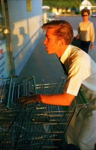 From Los Alamos Folio 1, Memphis, 1965 [supermarket boy with carts](c)William Eggleston _Courtesy Wilson Centre for Photography